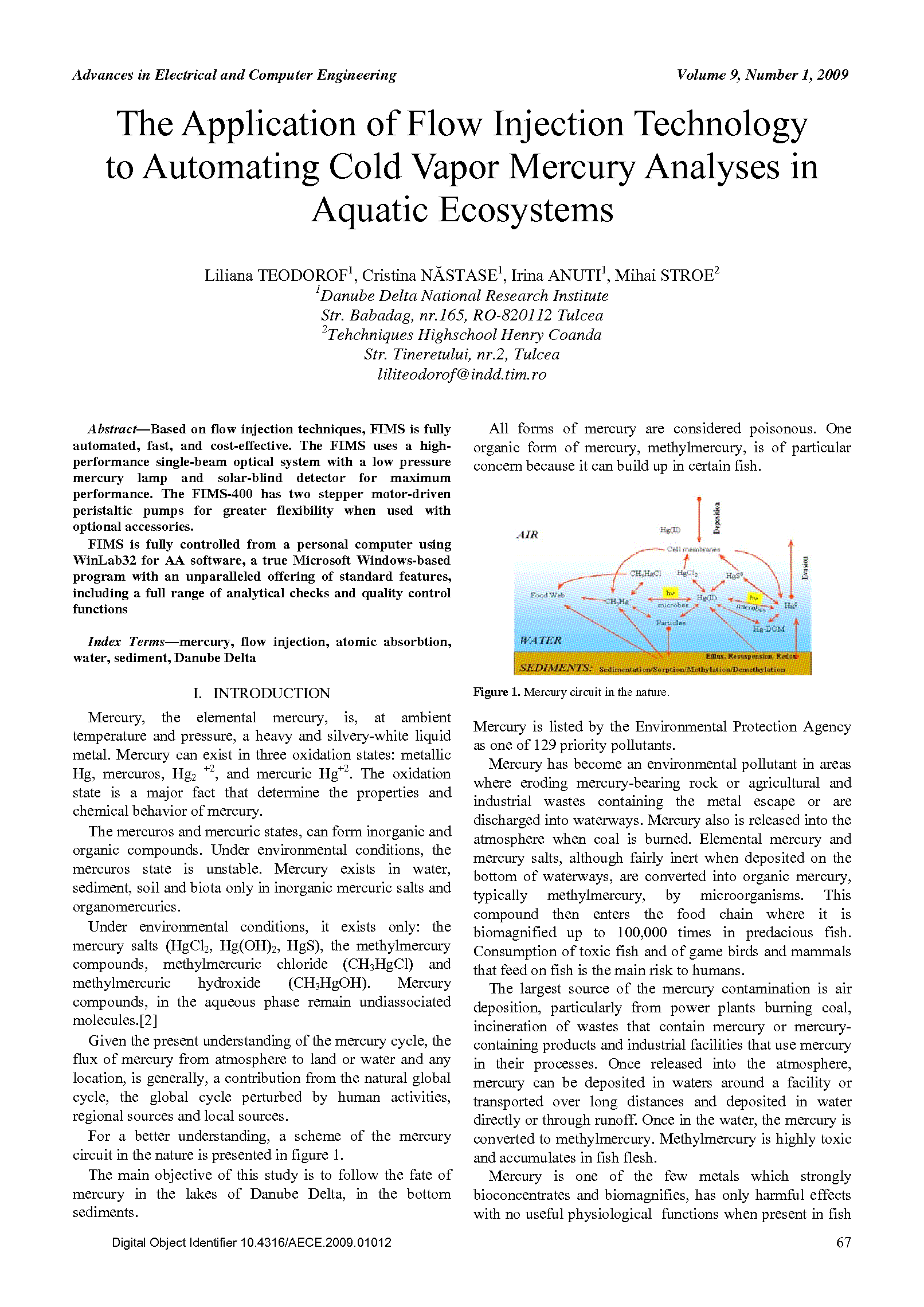 PDF Quickview for paper with DOI:10.4316/AECE.2009.01012