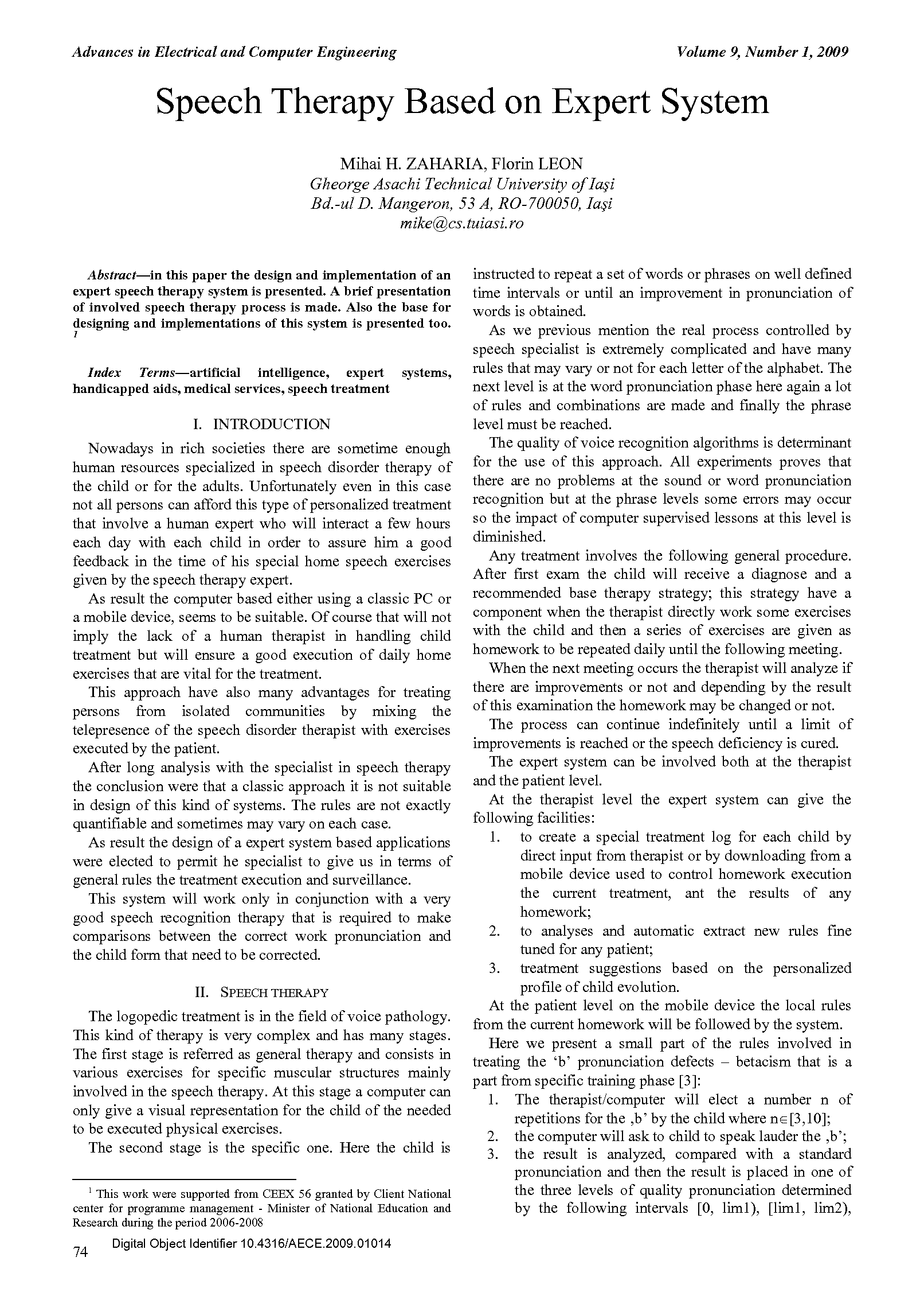 PDF Quickview for paper with DOI:10.4316/AECE.2009.01014