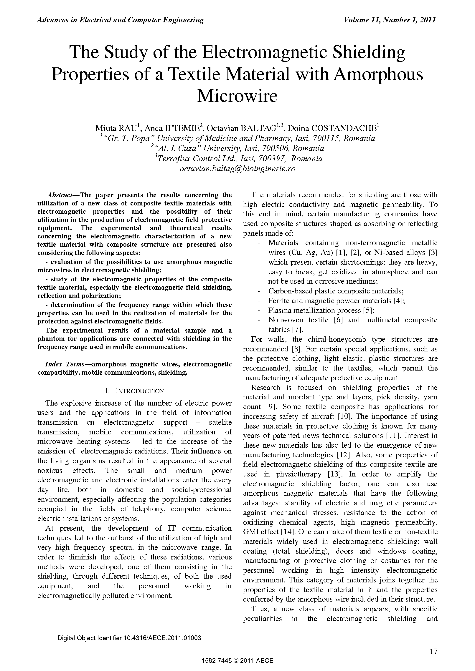 PDF Quickview for paper with DOI:10.4316/AECE.2011.01003