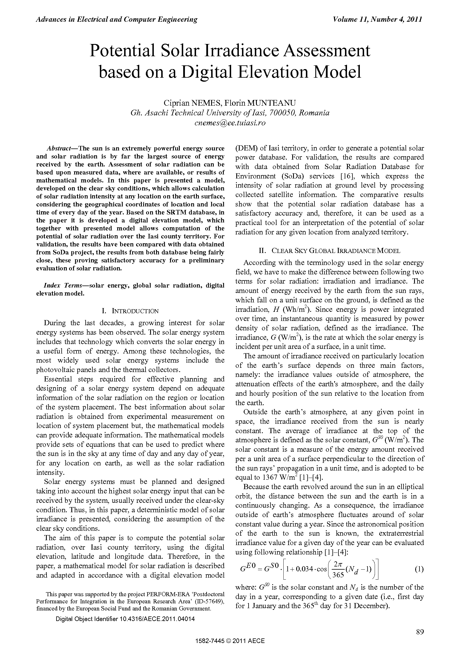 PDF Quickview for paper with DOI:10.4316/AECE.2011.04014