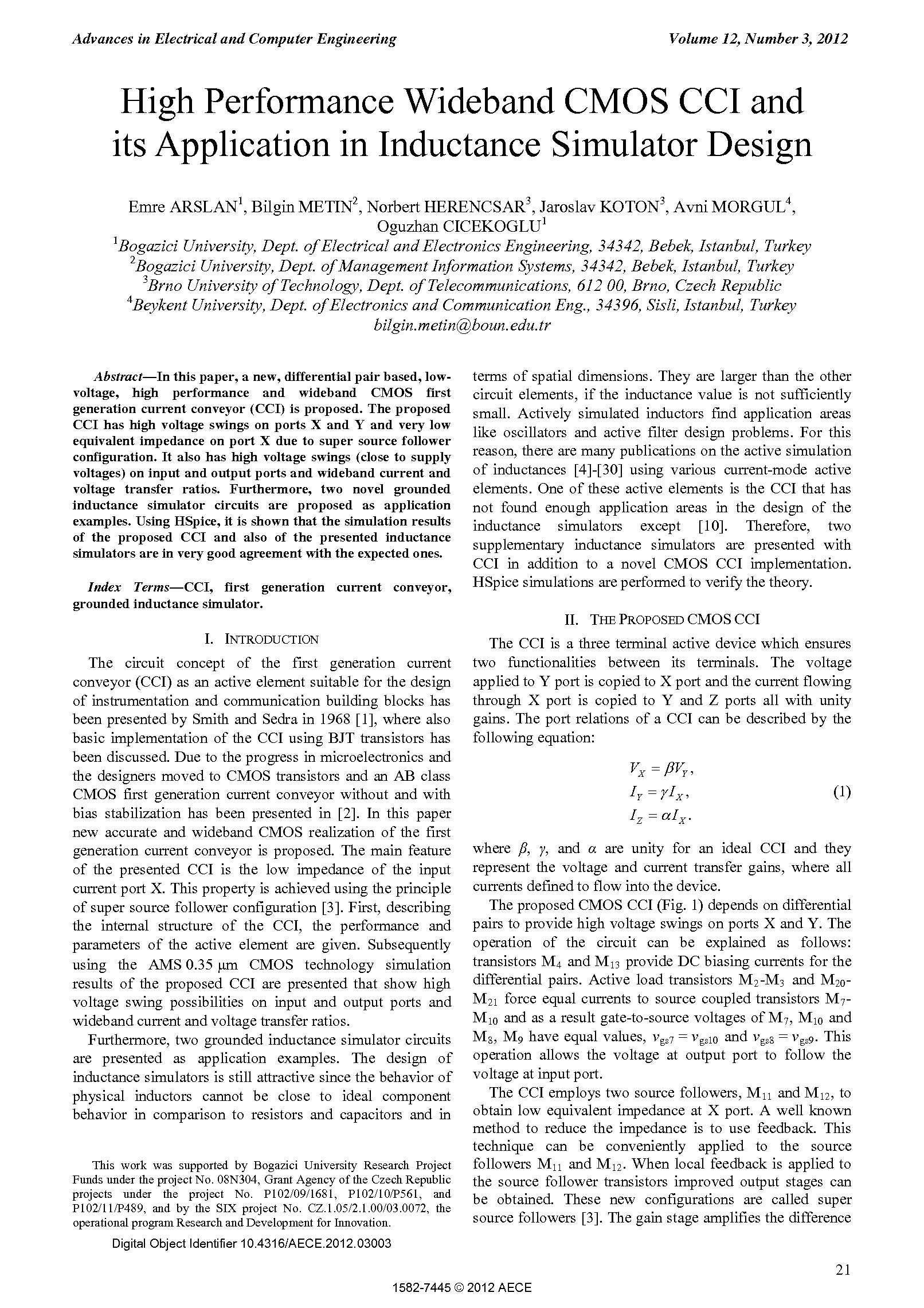 PDF Quickview for paper with DOI:10.4316/AECE.2012.03003