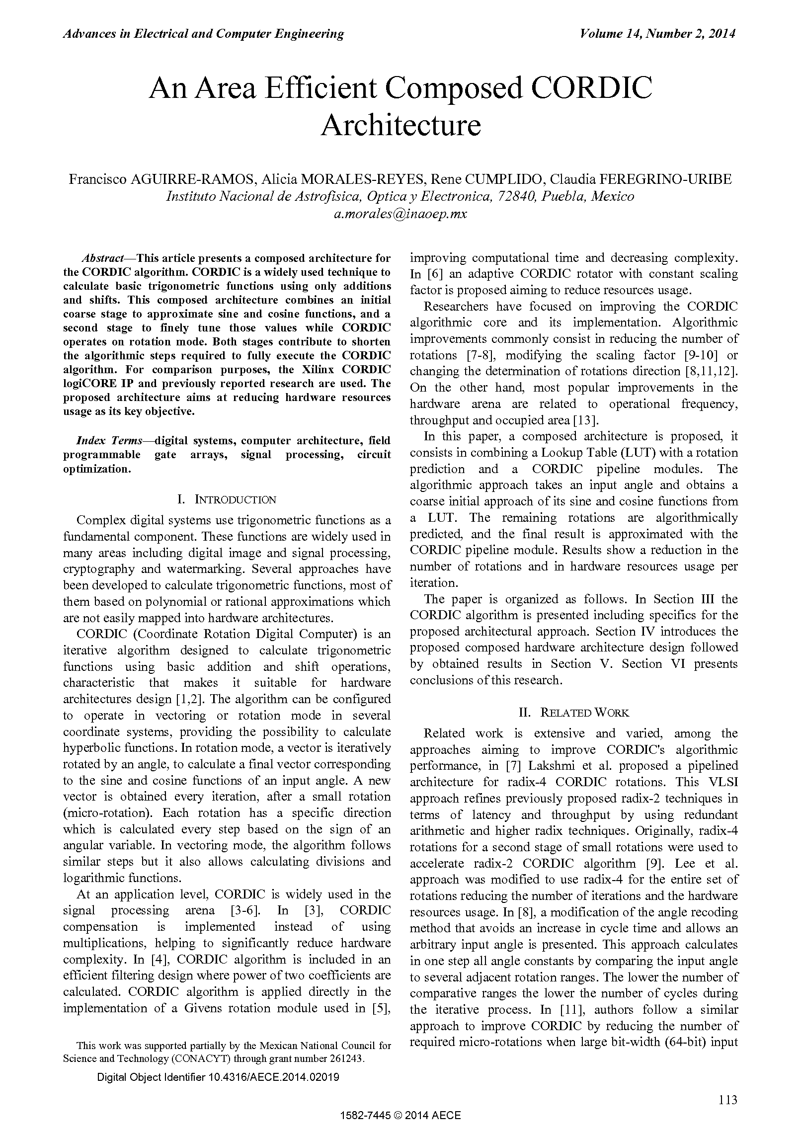 PDF Quickview for paper with DOI:10.4316/AECE.2014.02019