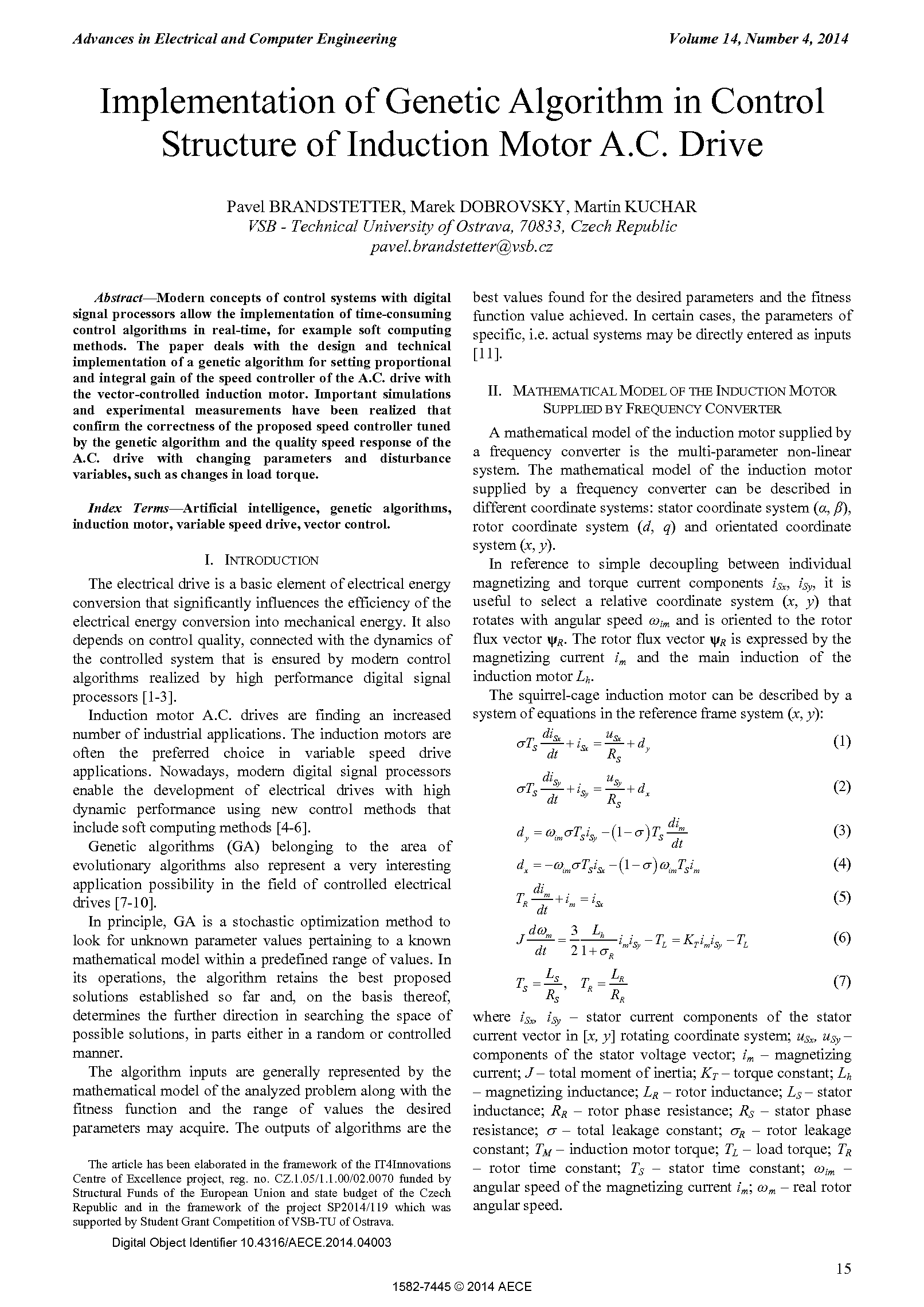 PDF Quickview for paper with DOI:10.4316/AECE.2014.04003
