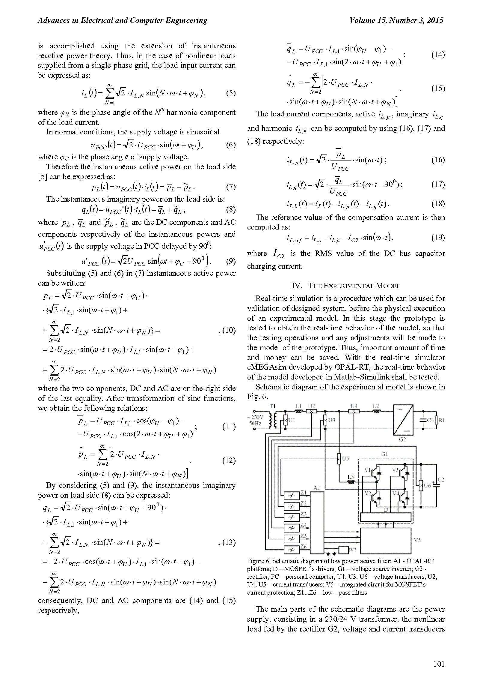Hysteresis Current Control of the Single-Phase Voltage