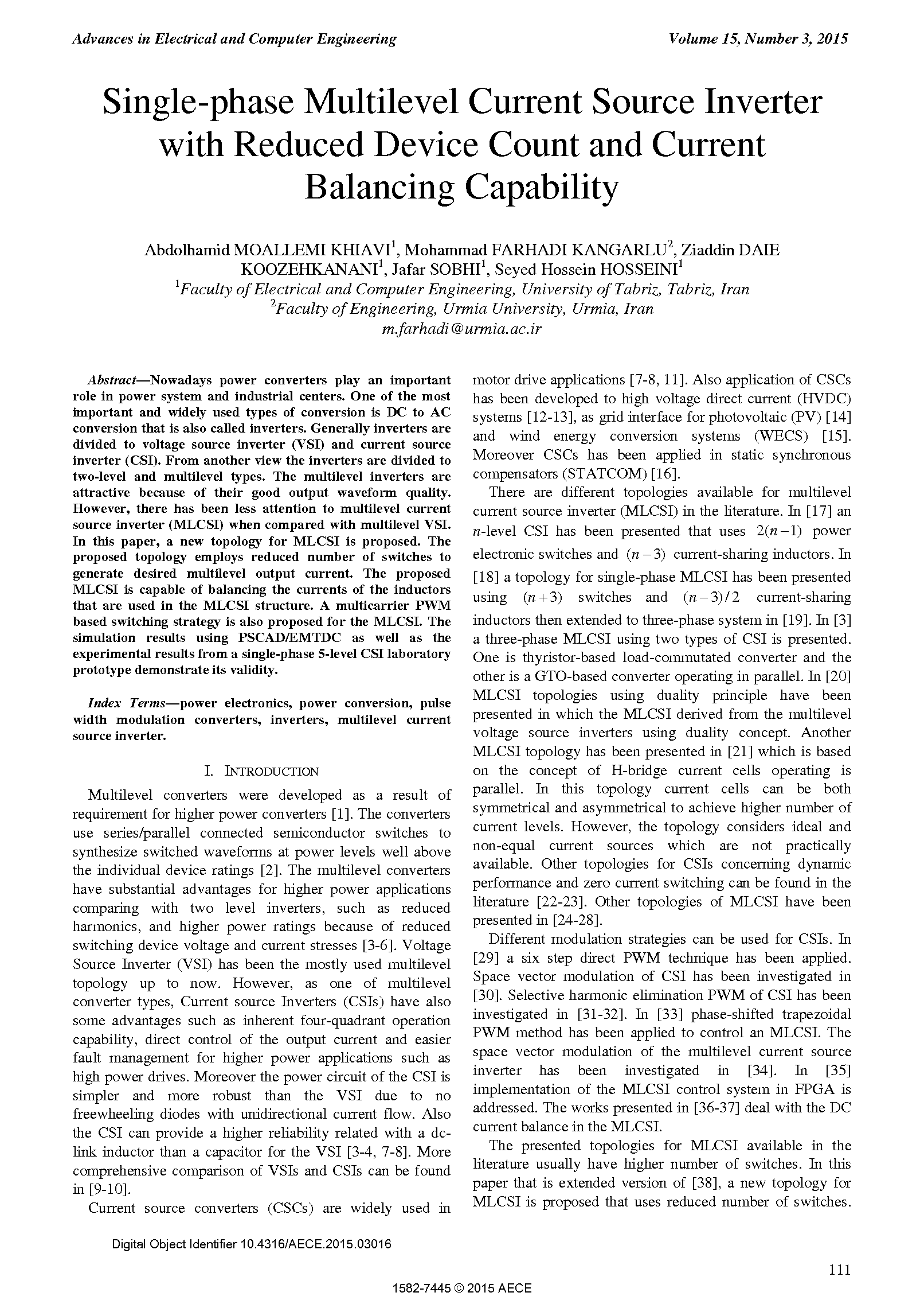 PDF Quickview for paper with DOI:10.4316/AECE.2015.03016