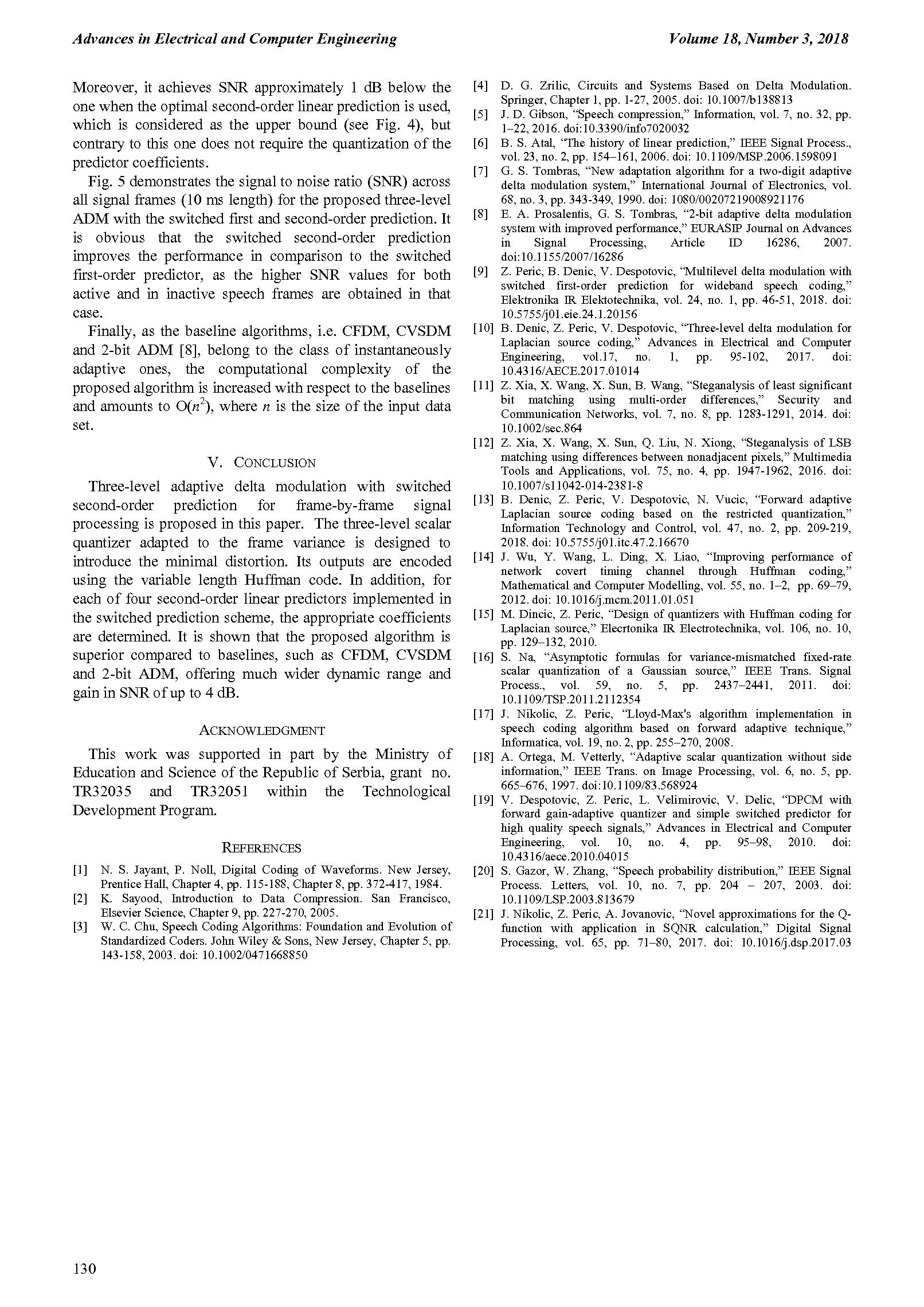 Three-Level Delta Modulation with Second-Order Prediction